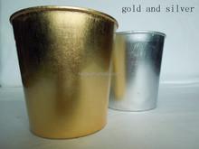 Round plastic material flower pots wholesale various finish