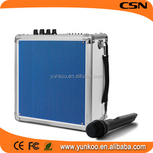 supply all kinds of bluetooth speaker,active speaker,wireless speaker with USB/SD/FM/RC/1pcs wireless microphone