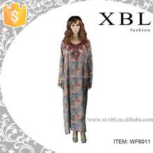2014 dubai kaftan modern fancy abaya for women WF6011