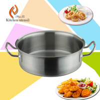 ISO9001 factory supplier rust-resistance commercial kitchen stainless steel steam pot with sandwich bottom for hotel