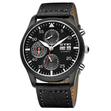 Water Resistant Men Automatic Brand Mechanical Watches Auto Date/Day High Grade Business Fabric Watches