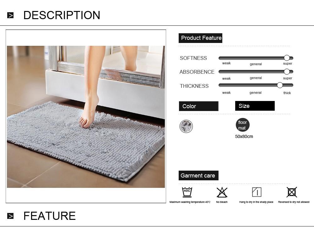 Мягкий коврик для ванной комнаты диаметр 60 cм WESS Montano
