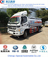 hot sale foton oil tank truck, truck fuel tank size