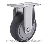 Thermoplastic rubber fixed caster