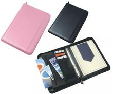 A4 Conference Portfolio Presentation Folder Folio Leather Zip Pads Ring Binder
