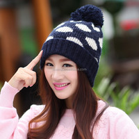 2015Hot sale! acrylic knitted ladies crochet hat trendy women beanie hat spot girls winter beautiful knitted caps for wholesale