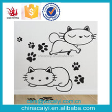 catty cat decoration wall decal for kids room