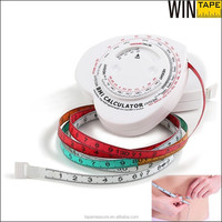 Heart Shape personalized medical health gifts unique bmi tape measure with BMI calculator