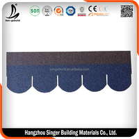 Japanese style ceramic roof tile cheap prices Laminated Standard Tile