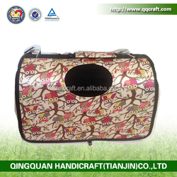 QQ factory wholesale cheap pink pet carrier & small dog front pack carrier & portable dog carrier bag