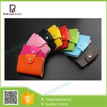 New model most popular pu leather covered atm card holder