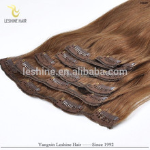 """Best Seller Direct Factory Best Quality Best Colored Wholesale Beauty 34"""" virgin malaysian hair clip in"""