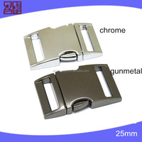 "3/8""---2"" metal release buckle,zinc alloy curved buckle ,metal buckle for dog collar"