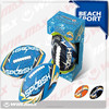 blue color neoprene beach American football/funny soccer ball
