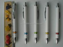 cheap white barrel plastic ballpoint pen wholesales