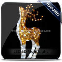 Outdoor white lighted reindeer for christmas decoration