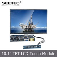 remote control skd module tft led lcd 1024x600 resolution vga hdmi rich interface10.1'' industrial monitor for car navigation