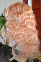 Rhythmhair 2015 Factory cheap price 100 brazilian human hair wig deep wave full lace wig