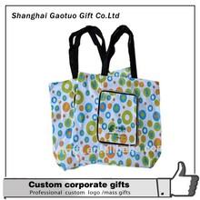 Wholesale Fashionable Flower Polyester Shopping Bag