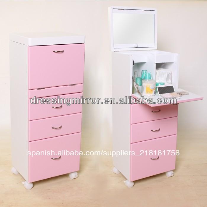 El color de rosa baratos tocadores de maquillaje con - Espejos de mesa baratos ...