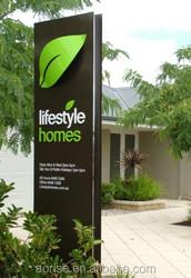 Exterior advertising pylon sign