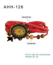 fashion new Wristwatches Women Quartz Watch Women Dress the bead bracelet Watch Eiffel Tower vintage watches