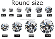 4-16mm white round crystal zirconium diamond jewelry LuoShi loose beads jewelry accessories diy craft materials