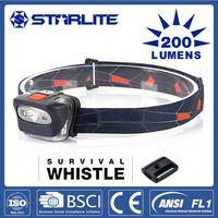 STARLITE 200 lumens 2Hz flash china head torch battery 4v