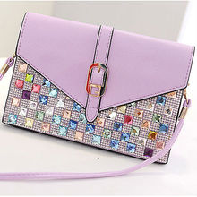 E799 luxury top fashion crystal ladies envelope clutch bag