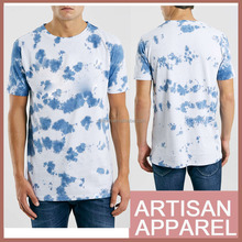 custom printed t-shirts made in China fast and cheap delivery with high quality blue flower full printing t shirt