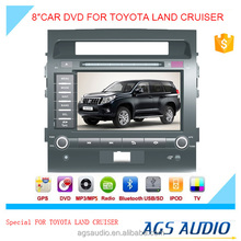 AGS special 8'' touch screen car dvd player for TOYOTA LAND CRUISER