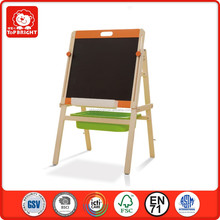 2015 Top Bright Hot Item wooden toys pink orange and white color wooden blackboard for kids