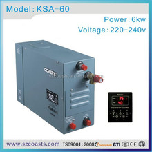 Hot selling coasts 6KW 220V 50/60HZ sauna steam generator with CE