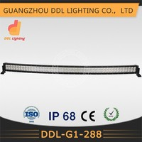 CE/ROHS/ISO9001/Waterproof IP68 One and a half year Warranty Curved 288w 52inch led 4x4 light bar reflector