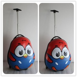 new arrival customized chicken design egg shape kids trolley bag lovely with wheels