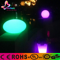 2015 ROHS certification mold R.G.B 16 colors changing oval led ball light with remote control