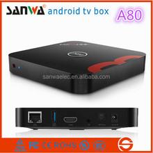 Sanwa 2015 Android 4.4 mini PC M8 ALLwinner A80 Octa Core AP6335 android tv box 4G RAM 32G ROM smart TV box WiFi 4K*2K 1080P