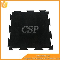 100% pure rubber granules rubber interlocking outdoor floor