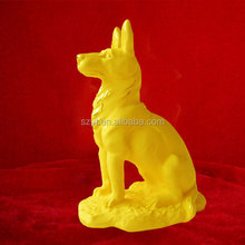 A a loyal metal dog sculpture / cute dog sculpture indoor decor lovely dog figurines