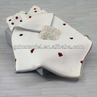 Top selling ceramic scale new model bed for architecture model making materials CH06051