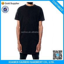 Wholesale Custom Hot Sale Plain White Tee Shirt Extra Long T Shirt Men Oversized