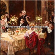 Famous artist paint classic figure oil painting