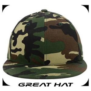 Oem большой плоский край камуфляё 100% хлопка плоский край шляпу и шапку