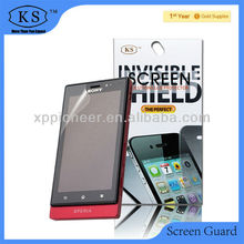 Hot selling mobile screen protector/guard/ward for Sony Ericsson LT27i self adhesive film