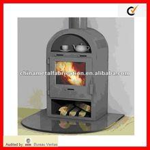 steel wood fireplace