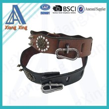 Wholesale rhinestone spiked faux leather dog collar