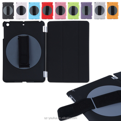 Factory Price Smart Handheld 360 Degree Rotating Back Cover PU Magnetic Case for iPad mini 2 3