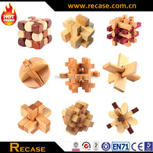 High Quality 3D Funny Assembling Wooden Puzzle Toys