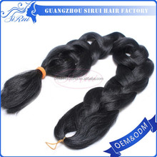 Synthetic xpression braiding hair extension 22 inch micro braiding hair, top human hair extensions xbl