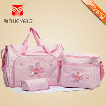 polyester baby diaper bag with baby bag organizer